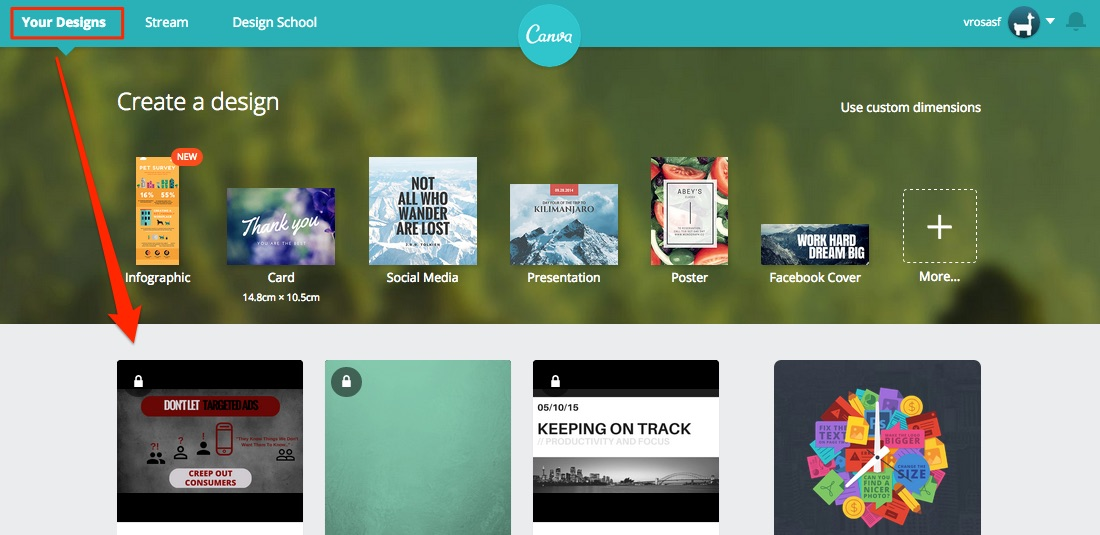 Canva Main Page at Login